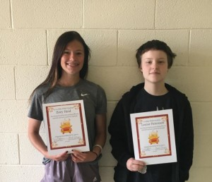 JH/HS STAR Students for the month of May 2021!  They are chosen for demonstrating outstanding effort & attitude and setting a positive example for their peers!!  7-9 STAR Student: Louise Patterson 10-12 STAR Student: Zoey Heid