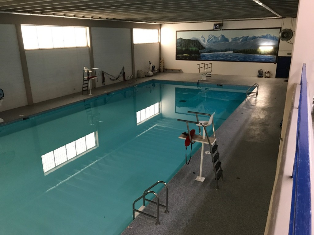 top view of swimming pool from south end