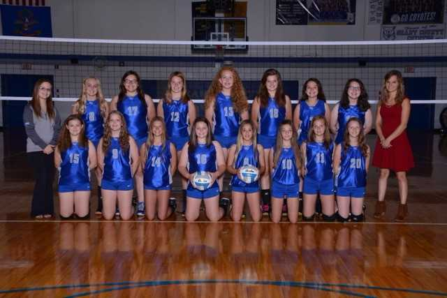 2017 Junior High Volleyball Team